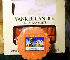 "Box Lot of 24 Yankee Candle ""LUAU PARTY"" Tarts Wax Melts"