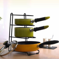 Home Kitchen Storage Racks Organizer Pot Pan Cookware Lid Pantry Rack S11