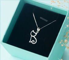 New pure 925 silver handmade lovely cat party charm neckles