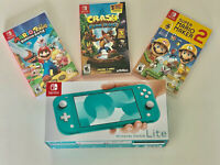 Nintendo Switch Lite Handheld Console Turquoise  - 3 Game 1 Carrying Case + More