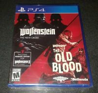 PS4 WOLFENSTEIN THE NEW ORDER OLD BLOOD SONY PLAYSTATION 4 BRAND NEW SEALED