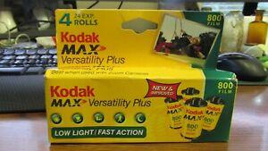 Lot of 4 Unused KODAK MAX Versatility Plus 800 Color Film EXP 05/2006