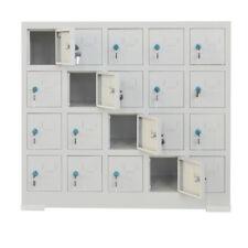 20 Doors Cell Phone Storage Locker Cabinet Key Type Metal Safe Locker Us Stock