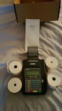 HYPERCOM T7 PLUS WITH ADAPTER CREDIT CARD MACHINE WORKING ORDER FEW USAGE MARKS.