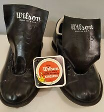 Vintage Wilson Kangaroo Leather Football Shoes Cleats Size 6.5 Black