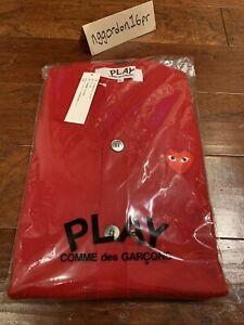 Comme Des Garcons Play Cardigan Red Sz. XL Japan NEW W/ TAGS Cdg Kapital Visvim
