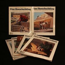 LOT OF 7 FINE HOMEBUILDING NO 114-120 MAGAZINE HAND CRAFTED WOODWORKING TOOLS