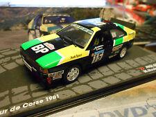 AUDI quattro rallye coupe du monde tour de Corse 1981 #15 mouton BP s-pre IXO Altay 1:43