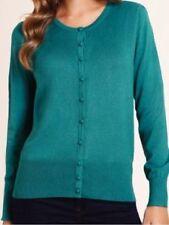 M&S Bubble Button Size 14 Plain Cardigan, Colour Emerald, BNWT