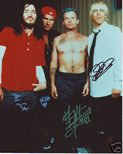 RED HOT CHILLI PEPPERS AUTOGRAPH SIGNED PP PHOTO POSTER