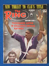 The Ring - Boxing Magazine - March 1966 - Ernie Terrell Cover - Clay Draft piece