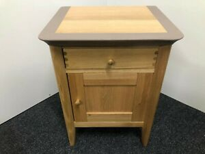 John Lewis & Partners Essence 1 Door Bedside Table, Pale Oak (upcycled)