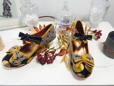 Brand new, unworn UK shoe size 9/43 , Apple spice midheels, Poetic Licence,Spots