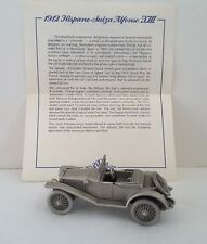 Vntg Danbury Mint 1912 HISPANO-SUIZA ALFONSO XIII Pewter Cars of the WORLD