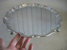 """Wyler of New York Silverplate 12"""" round salver Chippendale style MADE ENGLAND"""