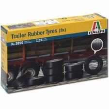 ITALERI Trailer Rubber Tyres 8pcs 3890 1:24 Model Kit Trucks