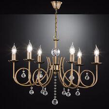 SALDI Lampadario ottone bronzo marrone 6 luci kristallleuchte cristallo