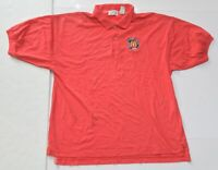 Men's VINTAGE McDONALD'S RACING Red Polo Shirt Short Sleeve Size Large L