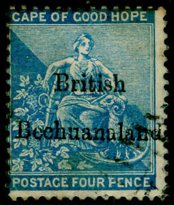 BECHUANALAND SG3, 4d dull blue, USED. Cat £85.