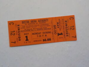 MUHAMMAD ALI vs GEORGE CHUVALO Boxing Ticket Cassius Clay Sports Boxers VTG NR