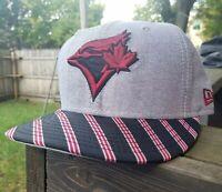 Toronto Blue Jays FITTED Hat RARE New Era Cap Size 7 1/8 59fifty MLB Baseball