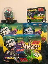 1998 Kenny Irwin #28 Texaco The Joker 1:24 NASCAR Car, Helmet, Bank