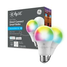 Cync Full Color Direct Connect Regulable Smart Wifi Compatible Con Bombilla LED A19-Paquete de 2