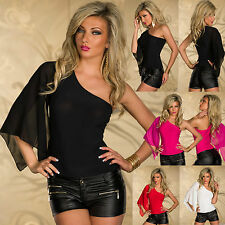 WOMENS TOP LADIES BLOUSE CLUBBING PARTY BUTTERFLY BODY SEXY SHIRT SIZE 6 8 10 12