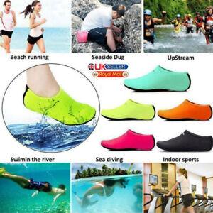 Women Men Water Shoes Aqua Socks Diving Socks Wetsuit Non-slip Swim Beach Sea UK