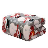 Ultra Plush Gray Winter Snowman Christmas Hypoallergenic Fleece Throw Blanket