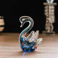 LONGWIN Art Glass Sculpture Swan Animal Figurine Tabtop Centerpiece Ornament
