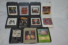 11 VTG 1970's ROCK 8 track tapes AEROSMITH FOGHAT KISS ZEPPELIN NAZARETH BTO