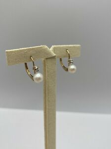 Solid 10k Gold Earrings with Pearls