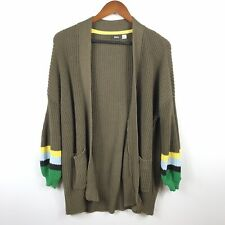 BDG Urban Outfitters Womens Cardigan Size XS Green Long Sleeve Oversized Sweater