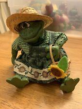Russ Country Folk Frog Sunflower