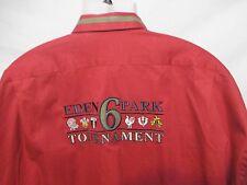 EDEN PARK Team Mens Embroidered Shirt XXL/2XL Striped 6 Tournament Long Sleeve