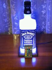 Jack Daniel Whisky Lamp Remote Man Cave Oak Base Christmas Gift Special Offer