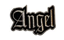"Metallic Silver ""Angel"" Name Tag Patch Heavenly Girl Women's Iron-On Applique"