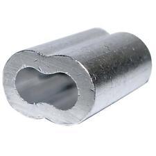 """1 Pack Aluminum 1/16"""" Crimp Cable Ferrules @ 50/Pack 7670804"""