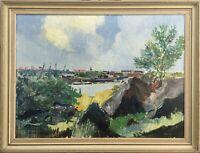 Budde Nielsen - Sunny Coastal Landscape - Gothenburg Sweden Lindholmen 71 x 93