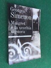 Georges SIMENON - MAIGRET E LA VECCHIA SIGNORA Mondolibri (2000) Libro Giallo