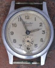 Kreuter 40s Vtg Art Deco Radium Dial Felsa 279 Good Balance Staff Parts/Restore