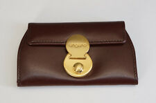 Authentic ungaro Key Case 4 Hooks Brown Leather Free Ship 944f34