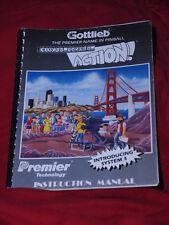 Pinball  Lights Camera action  Original Manual Gottlieb Flipper