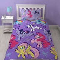 My Little Pony Adventure Single Girls Purple Bedroom Duvet Quilt Cover Set Gift