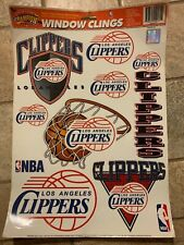 Los Angeles Clippers Reusuable Static Window Color Clings 1997 Genuine Throwback