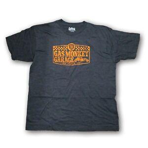 Gas Monkey Garage Dallas TX. Men's Gray/Orange Short Sleeve T-shirt