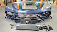 BENZ W205 2015-17 C-Class C63 AMG Style Front Bumper Cover Hood Grille PDC