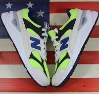 New Balance X-90 Reconstructed White/Green/Blue Running Shoe [MSX90TBA] mens 8 D
