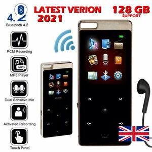 128GB Bluetooth MP4/MP3 Lossless Music Player FM Radio Recorder Sport Portable -